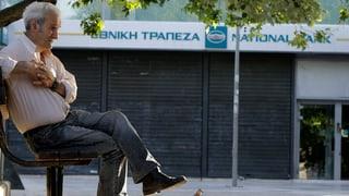 Ischs serrads tar bancas en Grezia