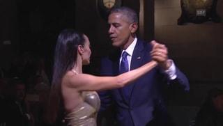 Obama versucht sich im Tango