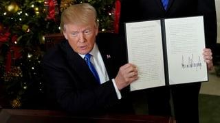 Trump gibt jahrzehntelange Zurückhaltung in Nahost auf