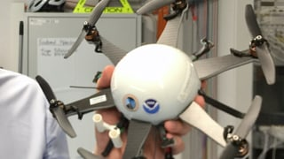 Schweizer Drohne hat Stürme genau im Auge