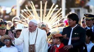 Koka und «El Papa»-Selfies: Bolivien feiert Franziskus