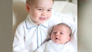 Unterschiedliche Mini-Royals: Zappliger George, brave Charlotte