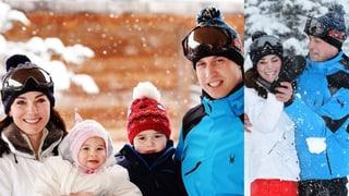 Kate, William, George und Charlotte: Royales Schneevergnügen