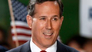 Republikaner Santorum will ins Weisse Haus