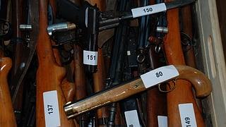 Wieder mehr Waffen abgegeben