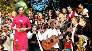 Video «Volkskulturfest «Obwald» - Ur-Klänge vor idyllischer Kulisse» abspielen
