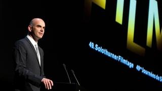Alain Berset und Ursina Lardi eröffnen die Jubiläums-Filmtage