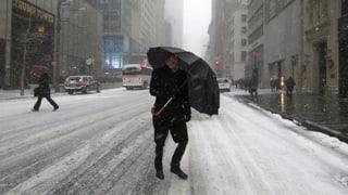 Schnee und Wind lähmen New York und Washington
