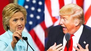 Clinton und Trump im Direkt-Vergleich