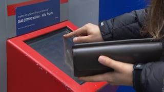 SBB-Billettautomaten schlucken Kreditkarten