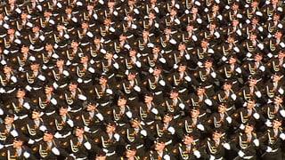 Pompöse Militärparade in Moskau