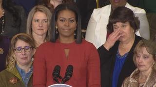 Michelle Obamas tränenreicher Abschied