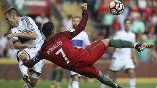 Ronaldo-Show mit Bicicletta: Portugal gegen Färöer ohne Mühe