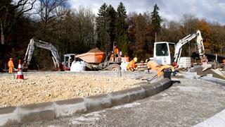 Weniger Geld für neue Kreisel, Stützmauern und Randsteine