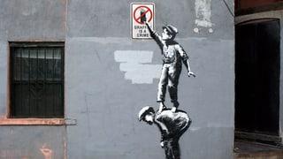 Banksy stellt in den Strassen New Yorks aus