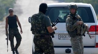 Schüsse auf OSZE-Konvoi in der Ukraine