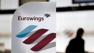 Streik bei Lufthansa-Tochter Eurowings trifft auch die Schweiz