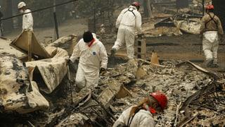 Zahl der Vermissten nach Grossbränden hat sich verdreifacht