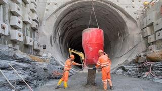 Die Tunnelbohrmaschine am Eppenberg fährt jetzt los