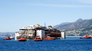 Costa Concordia ist am Ziel