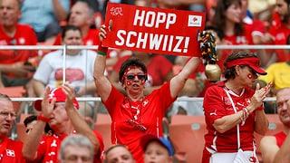 Grosser Empfang für die Schweizer Nati im Hallenstadion