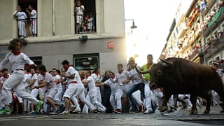 Vier Verletzte nach der ersten Stierhatz in Pamplona