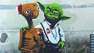 Streetartkunstwerke zum Schmunzeln