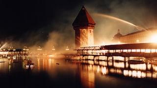 Als die Kapellbrücke brannte