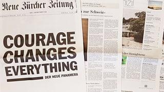 Novum für die NZZ: Die Frontseite wird erstmals zum Werbefenster