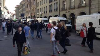 Ein ruhiger Samstagnachmittag in Bern – mit viel Polizei