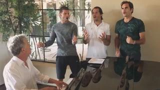 Federer und «The one handed #BackhandBoys»