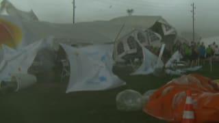 Sechs Schwerverletzte nach heftigem Sturm bei Bieler Turnfest