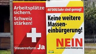 Die Zentralschweiz ist bei den nationalen Vorlagen gespalten