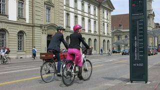 Das Velo wird in der Stadt Bern immer beliebter