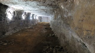 Einblicke in die alten Stollen des Bergwerks Herznach