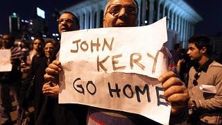 Krawalle und Ablehnung: US-Aussenminister in Kairo