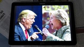 Trump und Clinton bekämpfen sich mit Twitter-Robotern
