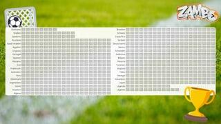 Der WM-Spielplan zum Ausdrucken