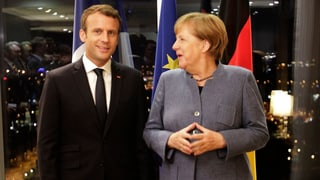Angela Merkel hat Emmanuel Macrons EU-Visionen sehr positiv aufgenommen.