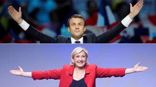 Das französische Stimmvolk schickt die Rechtspopulistin Marine Le Pen und den Linksliberalen Emmanuel Macron in die zweite Runde der Ausmarchung.