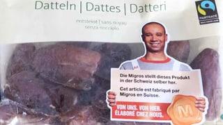 Migros wirbt mit «Heimatklebern» für Datteln aus Tunesien