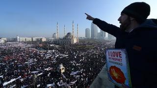 Tschetschenen laufen gegen «Charlie Hebdo» Sturm