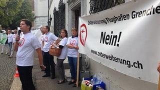 Demonstration gegen Pistenverlängerung in Grenchen