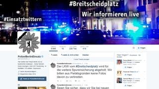 Twitter als wichtiges Werkzeug für Berliner Polizei