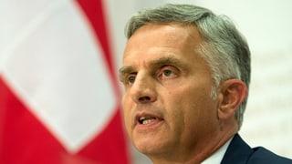 Burkhalter: EU nicht ständig als Feind sehen