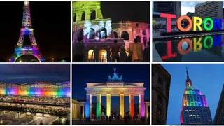 #Orlando: Weltweites Gedenken im Zeichen des Regenbogens