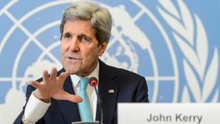 Kerry zum Atomstreit: «Noch ein langer Weg»