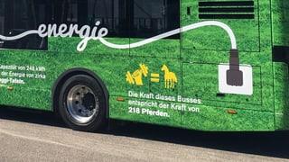 Grüner Elektrobus auf Basels Strassen