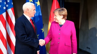 Merkel gegen Pence – zwei Welten prallen aufeinander