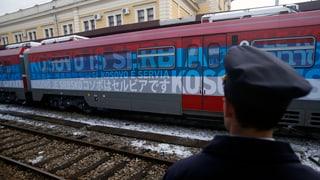 Serbischer Propaganda-Zug sorgt für Aufruhr